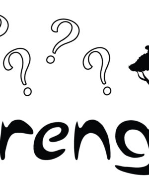04 Serengeti Mystery - Storyboard Graphic - Logo - Giraffe - Question Marks