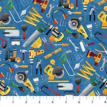 Construction Zone tools blue