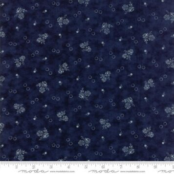 navy white small flowers