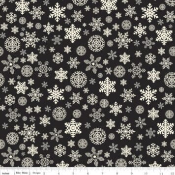 christmas delivery B&W Snowflakes