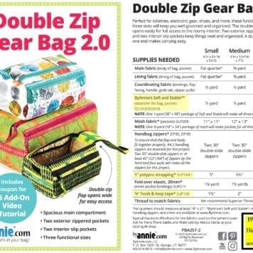 byannie Double Zip Gear Bag 2.0 Label