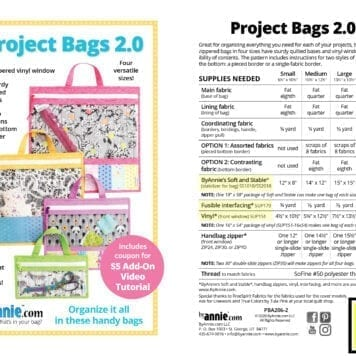 byannie Project Bags 2.0 label